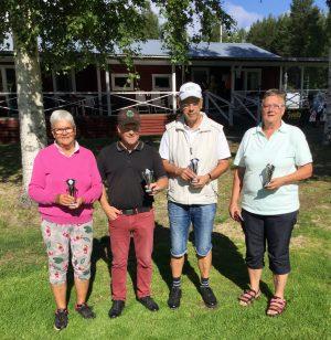 Årets första- och andrapristagare i klubbmästerskapet.