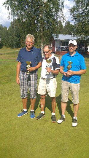 Från vänster: 2:a Bengt Olov Funseth, 1:a Gunnar Nyström, 3;a Magnus Nilsson